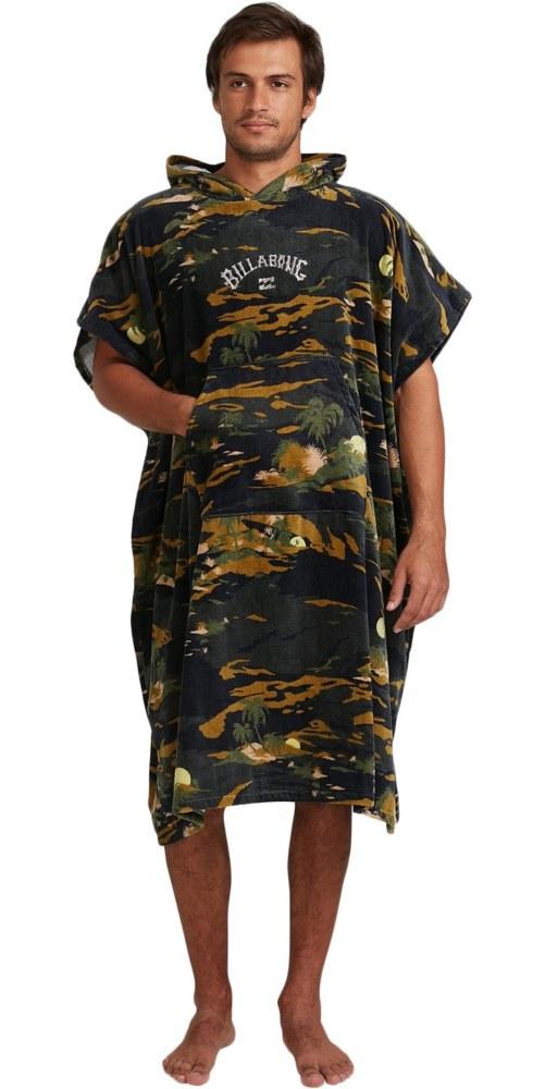 large Billabong mens hoodie towel camo