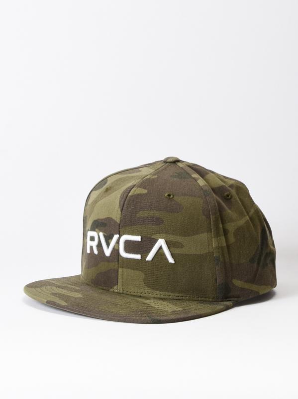 men s hats with straight peak rvca twill iii olive camo 3 thumb 1