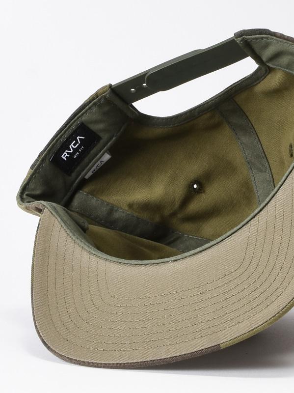 men s hats with straight peak rvca twill iii olive camo 3 thumb 3